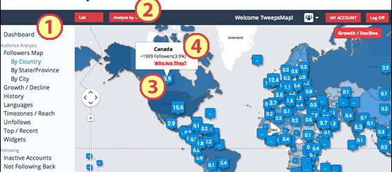 How to see your Twitter Followers by location
