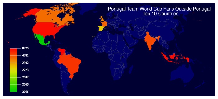 World Cup Twitter Facts Portugal Edition Tweepsmap Blog - Where is portugal in the world